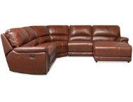 5 Pc Leather Reclining Sect.