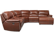 6 Pc. Leather Reclining Sect.