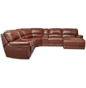 7 Pc. Leather Reclining Sect.