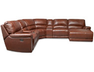 7-Pc.-Leather-Reclining-Sect.