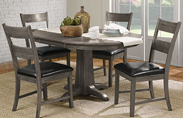 Family Dining 5 Piece Pedistal Ladder Set