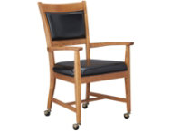 shop Oak-Uph-Castor-Arm-Chair