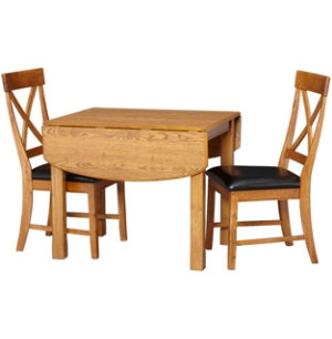 3 Pc Drop Leaf Dining Set Art Van Furniture