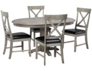 5pc Pedestal Dining Set