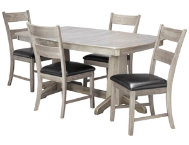 TRESTLE TABLE  4 LAD CHAIRS