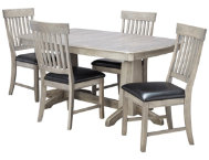 shop TRESTLE-TABLE--4-SLAT-CHAIRS