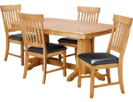 TRESTLE TABLE  4 SLAT CHAIRS