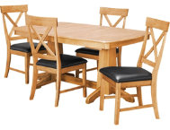 TRESTLE TABLE  4 X BK CHAIRS