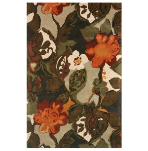 Petal Pusher Brown 8x11 Rug