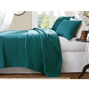 Peacock Queen Coverlet Set