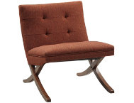 Lucille Orange Armless Chair