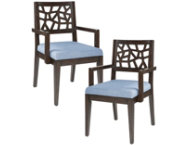 Cracked Ice Arm Chair Set of 2