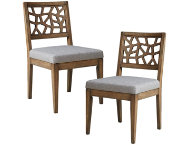 Cracked Gray Chair Set of 2