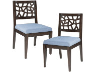 Cracked Blue Chair Set of 2