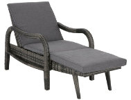 Joffrey Grey Chaise Lounger