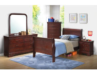 Philippe Merlot Twin Bedroom