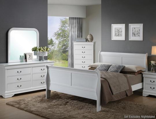 Philippe White 6pc King Bedroom Set - Art Van Furniture