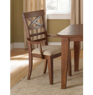 X-Back Arm Chair - Rustic Oak