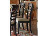X-Back Side Chair - Black