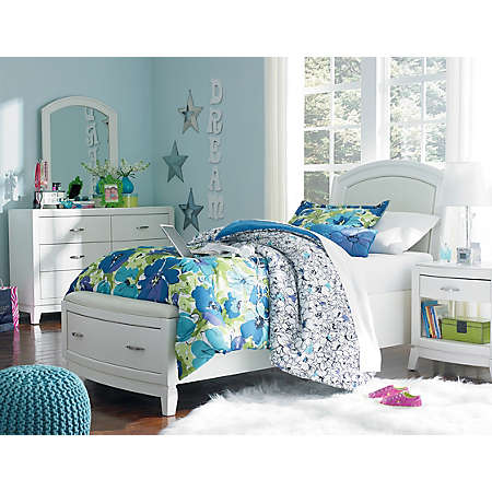 avalon youth bedroom - white | youth bedroom | bedrooms | art van
