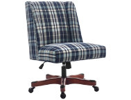Draper Blue Plaid Office Chair