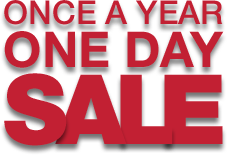 Once A Year, One Day Sale