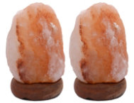 Two 6  Himalayan Salt Lamps
