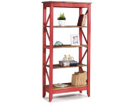Camden Red 65  Bookshelf