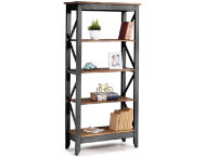Camden Black 65  Bookshelf