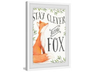 Clever Fox 30x20 Framed Art