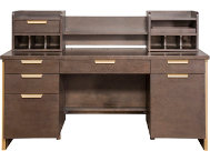Axis Credenza and Hutch