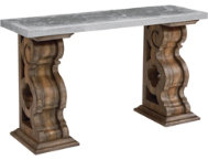 shop Console Table with Zinc Top