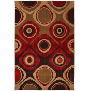 Danger Zone Red 5'x8' Rug