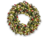 30  Crestwood Wreath w  Lights