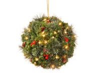 12  Spruce Kissing Ball w  LED