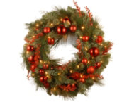 24  Mixed Red Wreath w  LED