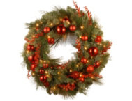 30  Mixed Red Wreath w  LED