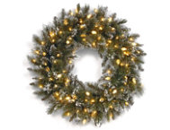 30  Bristle Wreath w  Lights
