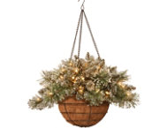 Pine Hanging Basket w  LED