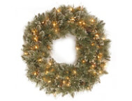 24  Pine Wreath w  LED