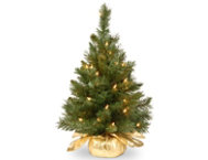 Gold Fir Tree w  Lights