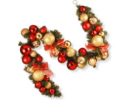 shop 6ft Red Ornament Garland
