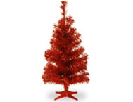 Red 3ft Tinsel Tree