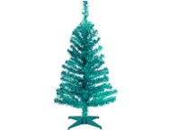 Turquoise 3ft Tinsel Tree