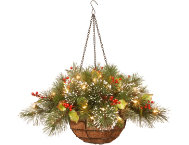 Frosted Hanging Basket w  LED