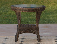 Tangiers End Table W Glass
