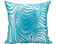 Blue Zebra Outdoor Pillow