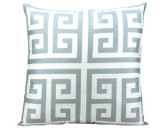 Greek Key Grey Outdoor Pillow