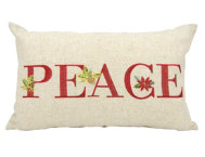shop Peace Holiday 20x12 Pillow