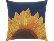 Navy Sunflower Outdoor Pillow